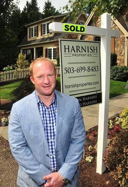REVIEW PHOTO: VERN UYETAKE - Justin Harnish, broker and owner of Harnish Properties, says he wouldnt use the word hot to describe Lake Oswegos real estate market. There are segments that are very, very strong, he says, and there are segments that are just doing OK.