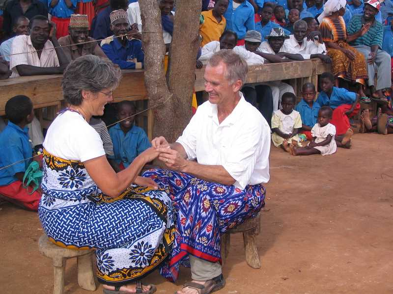 Rinda and Brent Hayes are shown at their wedding ceremony in Kenya nine years ago. The couple has worked incredibly hard to make Kenya Keys a success.
