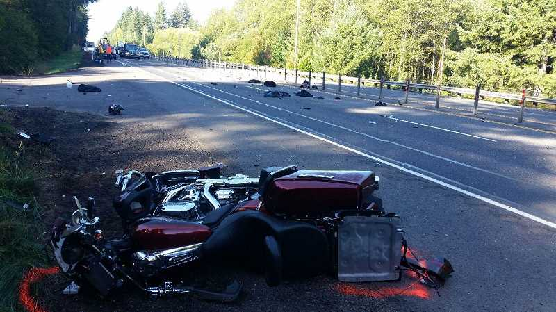 Pamplin Media Group - Oregon City man airlifted after two motorcycle