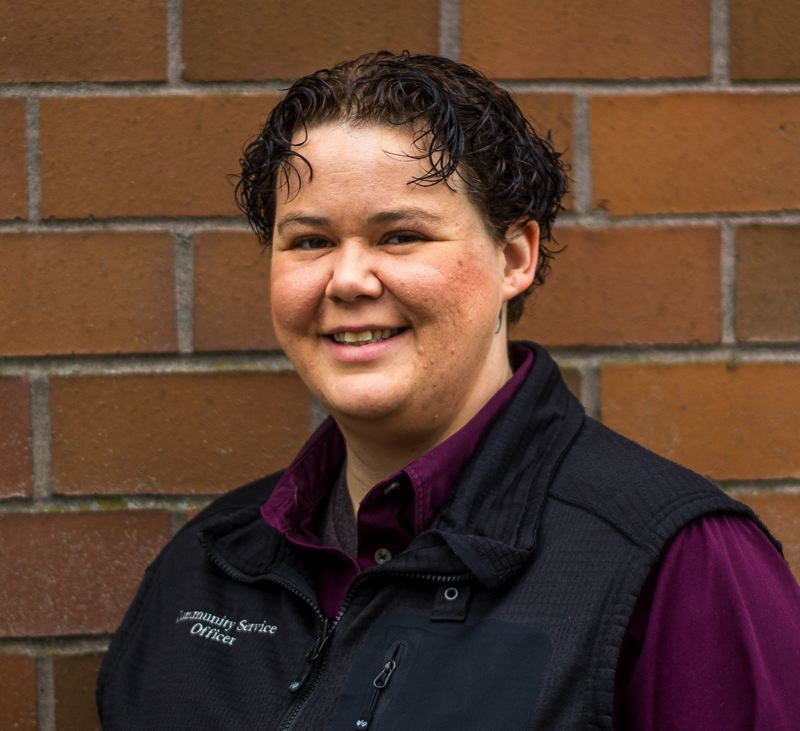 NEWS-TIMES PHOTO: TRAVIS LOOSE - Pacific University alumna Lauren Quinsland has returned to town as the Forest Grove Police Department's community outreach specialist.