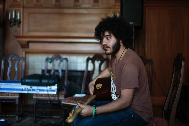 COURTESY: HANNAH DEVEREAUX - Egyptian saz player Abdallah Abozekry is part of the One Beat project, set to perform at Mississippi Studios Nov. 1.