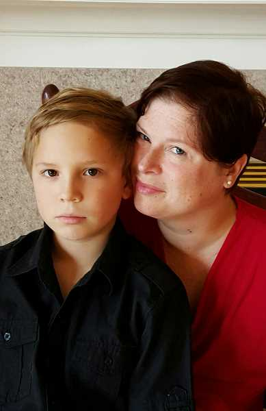 COURTESY: AMANDA SCHROEDER/ANNE CLARE - Amanda Schroeder, here with her son, Kenny, has battled a lot in her life. Next she wants to represent East Portland on the Multnomah County Board of Commissioners.