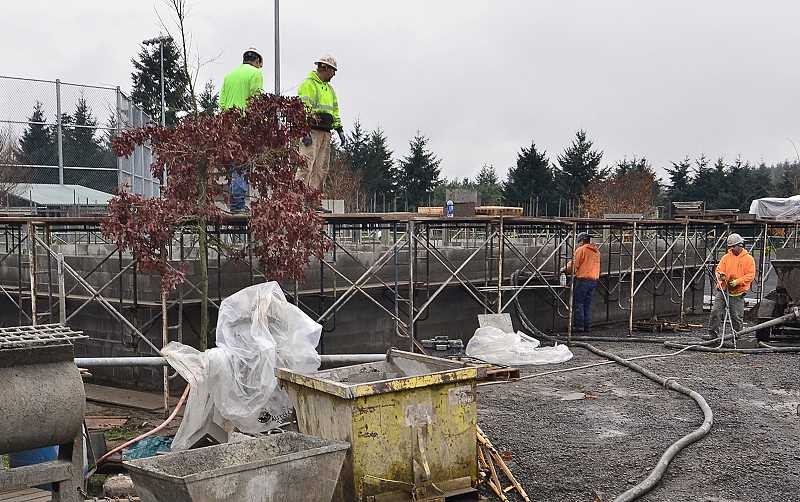 TIDINGS PHOTO: VERN UYETAKE - Construction at Rosemont Ridge Middle School should be completed by early spring.