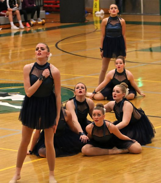 PHOTO BY: J. BRIAN MONIHAN - Gladstone High School competes in the contemporary category.
