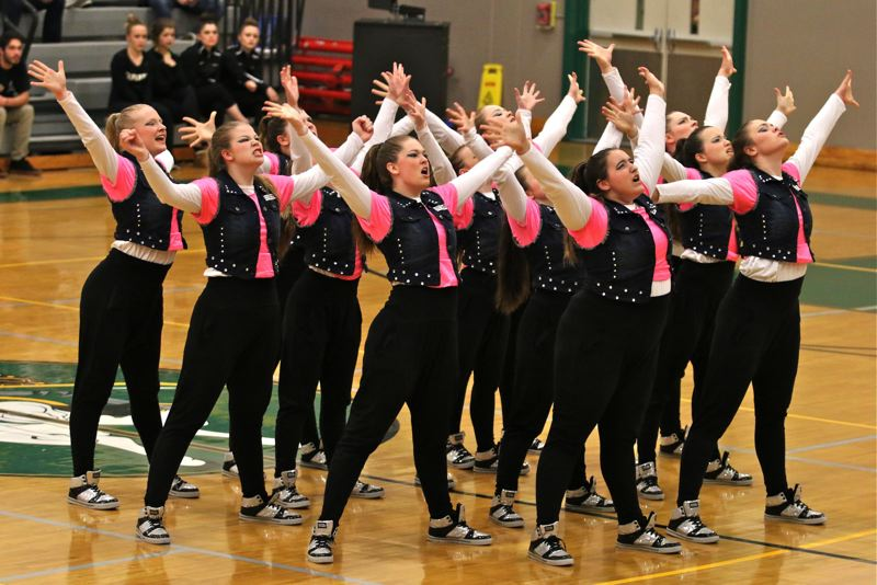 PHOTO BY: J. BRIAN MONIHAN - Scappoose High School in the Hip-Hop Category.