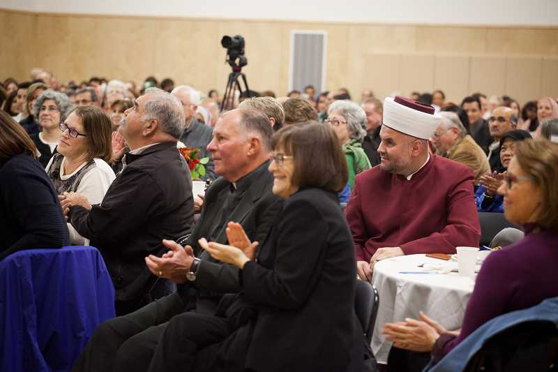 TIMES PHOTO: ADAM WHICKAM - Elected officials and religious leaders from across the Portland area were in attendance on Friday to celebrate the new Muslim Educational Trust community center. MET works with Christian and Jewish groups around the Portland area to improve relations between Muslims and non-Muslims
