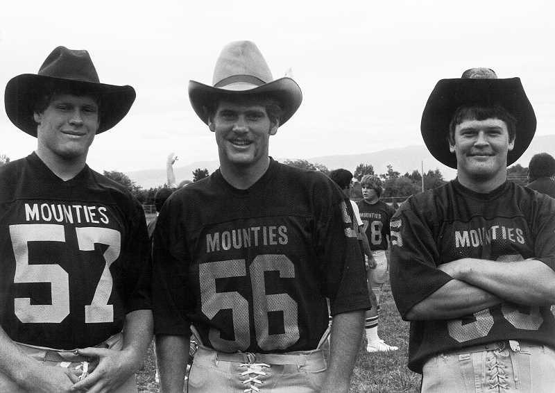 PHOTO COURTESY OF HANK SIMMONS - From left, Hank Simmons, Wayne Herron, and David James in 1980.