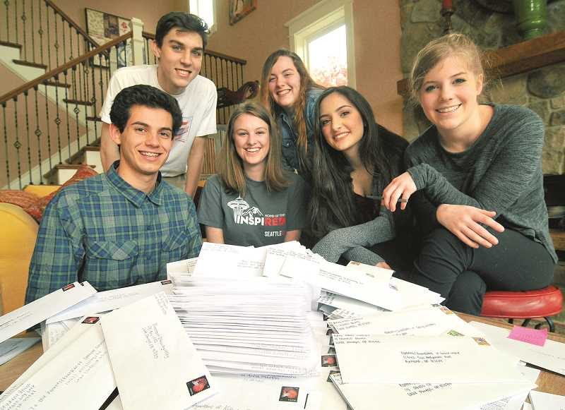 Lake Oswego High School Student Union members (from left) Shaheen Safari, Jack McLean, Blake Mindermann, Haley Bertelson, Farah Alkayed and Claire Torkelson urged their fellow Lakers to opt out of Smarter Balanced Assessment tests. Nearly 200 did.