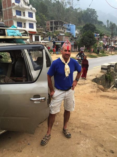 SUBMITTED PHOTO - Oregon City resident Nigel Bray fulfilled his dream of helping others who were affected by a natural disaster when he helped rebuild a school nearly destroyed by an earthquake in Nepal.