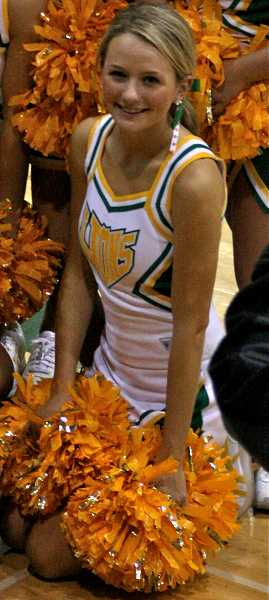 SUBMITTED PHOTO - Lauren Bushnell was a cheerleader during her time at West Linn High School.