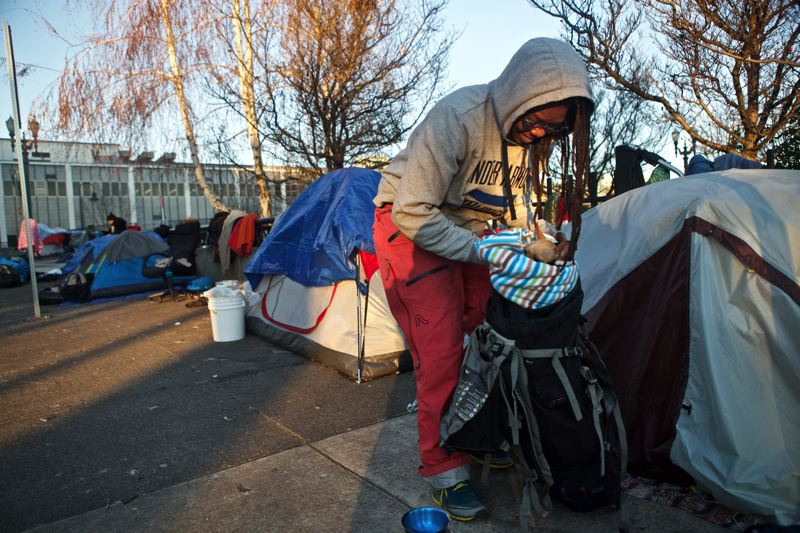 PORTLAND TRIBUNE: JAIME VALDEZ - Homeless campers are increasingly visible in Old Town/Chinatown and other parts of Portland.