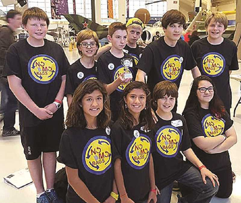JOHN BAKER - Two Ninety-One School teams, No Mo Bags and The Trash Benders (below) combined recycling projects with robotics.