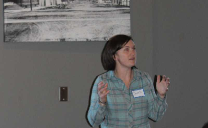 JASON CHANEY - Sarah Cuddy of Oregon Wild discusses the proposed national recreation area during Thursday's meeting.