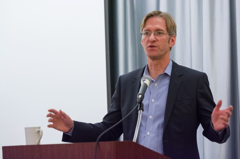 PORTLAND TRIBUNE FILE PHOTO - State Treasurer Ted Wheeler says he happy to explain his support for public-private partnerships on infrastructure projects.