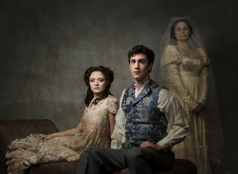 COURTESY: KATE SZROM - Great Expectations shows at Portland Center Stage, Jan. 22-Feb. 14, with (left to right) Maya Sugarman (Estella), Stephen Stocking (Pip) and Dana Green (Miss Havisham).