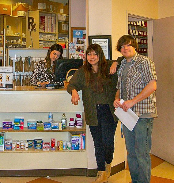 RITA A. LEONARD - Three of the Pharmacy Technicians at the new Strohekers Pharmacy, opening in the Brooklyn Yard development at Holgate and McLoughlin, are - from left: Kayla Rassi, Melanie Menchaca, and Nick Kenward.