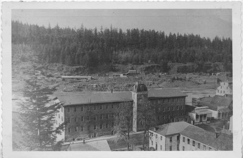 SUBMITTED PHOTO: CLACKAMAS HISTORICAL SOCIETY - The Oregon City Woolen Mill as seen in 1874.
