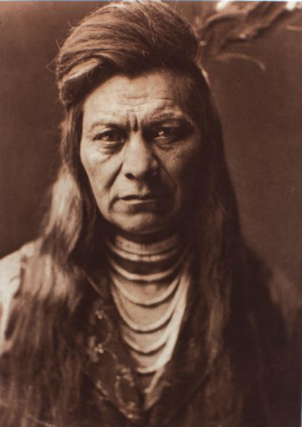 EDWARD CURTIS LEGACY  - Modern photos of Native Americans contrast with the early 20th century photos of Edward Curits (Black Eagle, Nez Pearce, 1911).