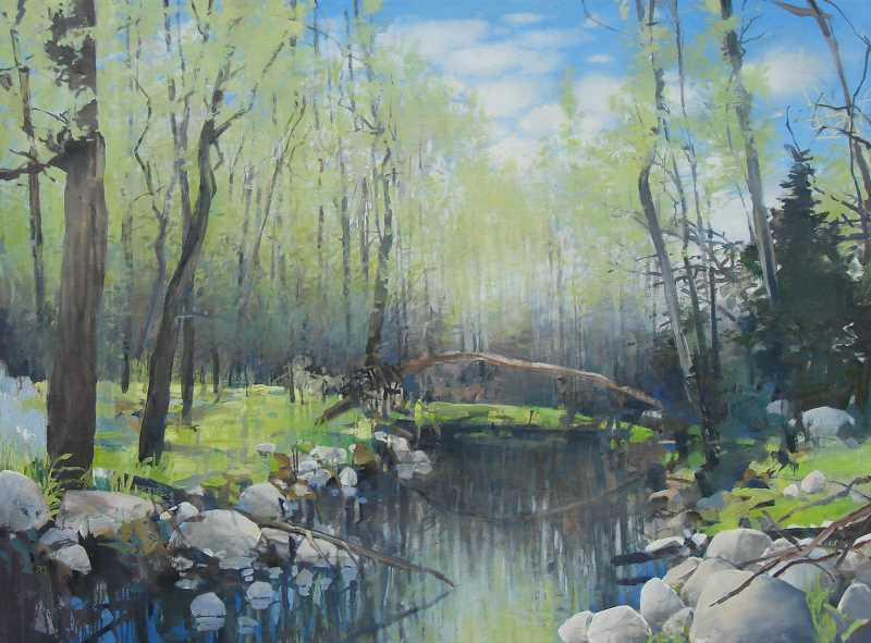 SUBMITTED PHOTO  - Brush Creek Spring is one of the pieces Randall David Tipton will be showing at Johnstone Financial Advisors. An artists reception is planned for 5-7 p.m. Feb. 5.