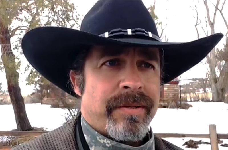 COURTESY OF THE PETE SANTILLI SHOW - Internet radio talk show host Pete Santilli spent two months in Burns reporting on the wildlife refuge takeover and expressing strong opinions about the occupiers' cause. He disagreed with the takeover, however.
