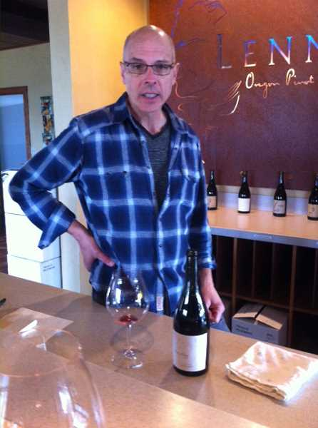 STAFF PHOTOS: BARB RANDALL  - Steve Lutz is the owner and winemaker of Lenné Estate Winery, which makes deep root pinot noir.