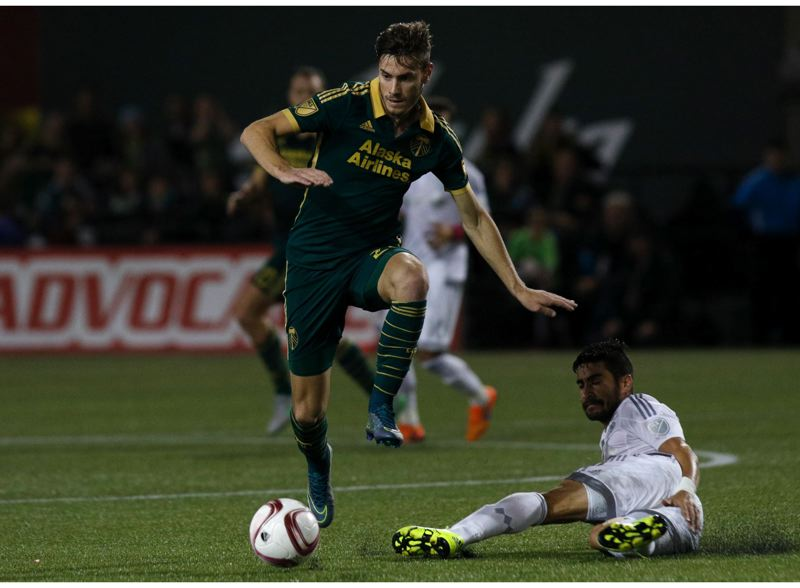 TRIBUNE FILE PHOTO: JONATHAN HOUSE - Lucas Melano (left) scored Thursday in the Portland Timbers' 1-0 preseason victory over Real Salt Lake at Tucson, Ariz.