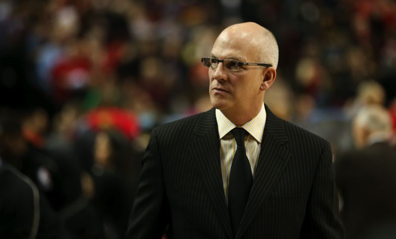 TRIBUNE PHOTO: DAVID BLAIR - Assistant coach Jay Triano, 57, says working for the Trail Blazers and under head coach Terry Stotts 'has rejuvenated me.'