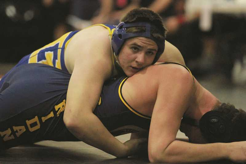 PHIL HAWKINS - Gervais junior Peter McKinley will make his first trip to the OSAA State Wrestling Championships on Feb. 26 after placing fourth in the 195-pound bracket of the 3A Special District 2 Championships on Saturday.