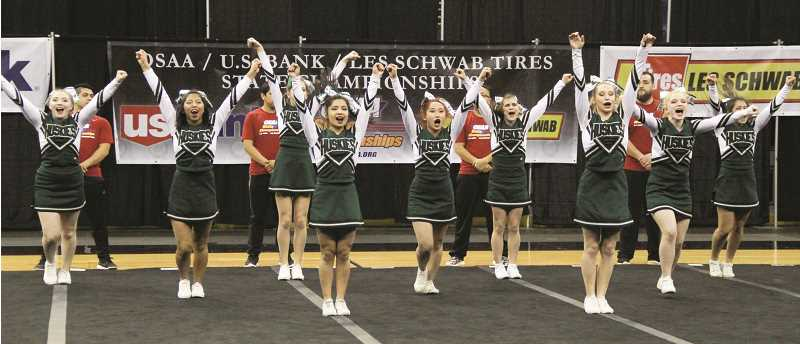JONATHAN SANCHEZ - The North Marion cheer teams 2016 season culminated in a trip to the state championships at Portland Memorial Coliseum on Saturday. The Huskies went on to place third behind Klamath Union and South Umpqua.