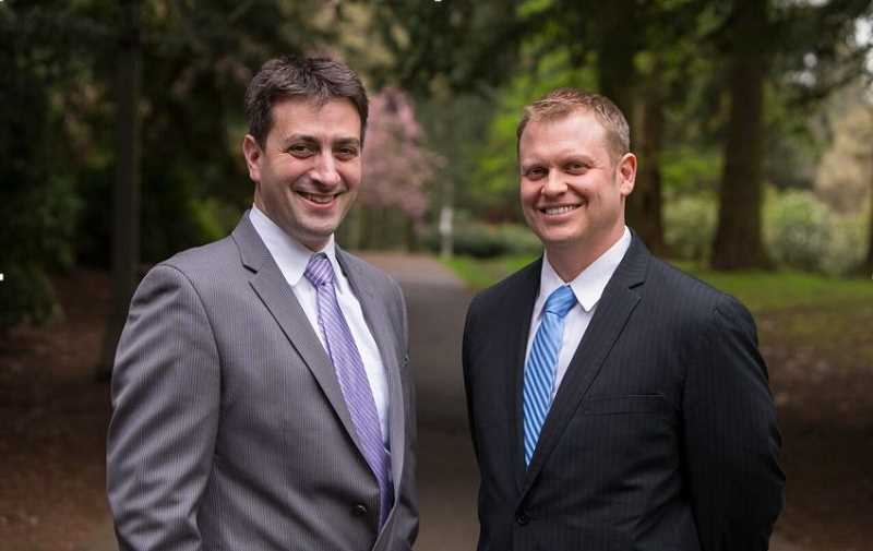 SUBMITTED PHOTO - Scott Levin and Cameron Levine of Levin and Levine, LLP, recently opened a law office in Old Town Sherwood.
