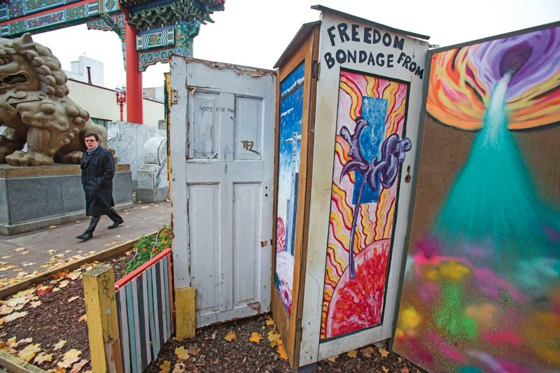 PORTLAND TRIBUNE FILE PHOTO - Mayor Charlie Hales says the Right 2 Dream Too homeless camp must move out of Chinatown by the end of October.