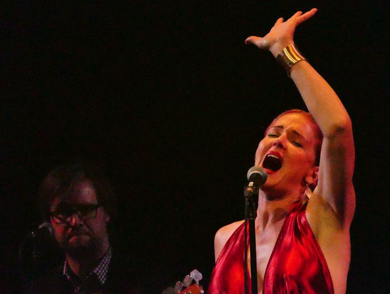 COURTESY PHOTO: JANICE PIERCE - At a recent concert in Tampa, Fla., Storm Large sings 'Eight Miles Wide.'