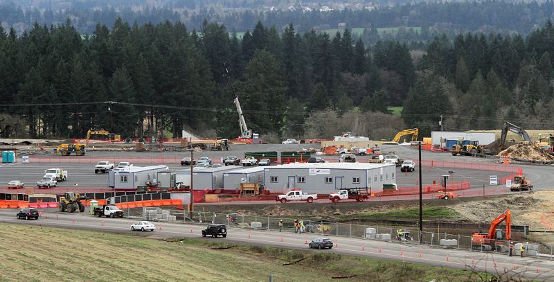 TIMES PHOTO: MILES VANCE - Site work continues at full speed at the location of the Beaverton School Districts next large comprehensive high school, located just off Southwest 175th Avenue and Scholls Ferry Road in the South Cooper Mountain area.