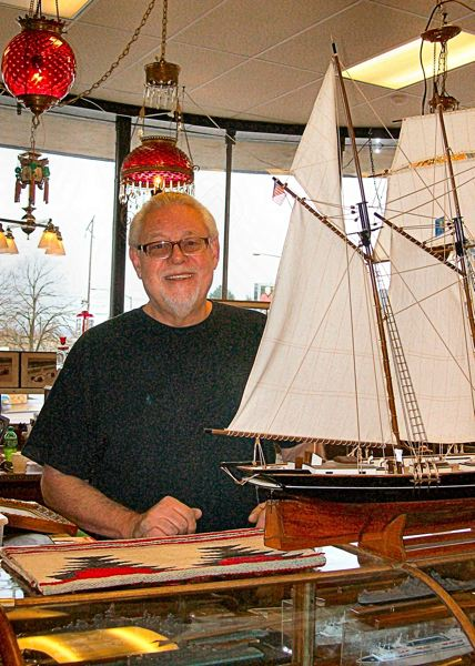 RITA A. LEONARD - Antiques dealer Alan Riehl recently opened his first east-side antique shop, Portland Antique, at 729 S.E. Powell Boulevard, near the east end of the Ross Island Bridge.