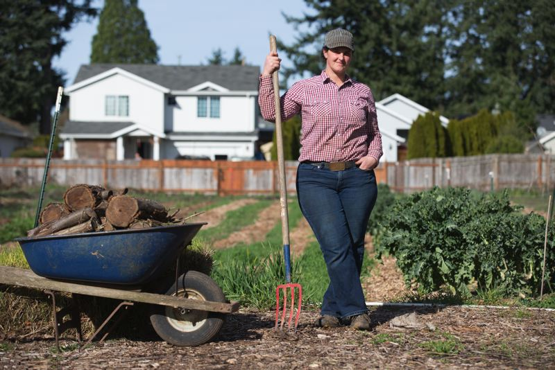 PAMPLIN MEDIA GROUP: JONATHAN HOUSE - Rockwood Urban Farm, owned by Leah Rodgers, is located in East Portland among apartments, home, a hot-rod garage, an air conditioning shop and the rush of urban traffic.