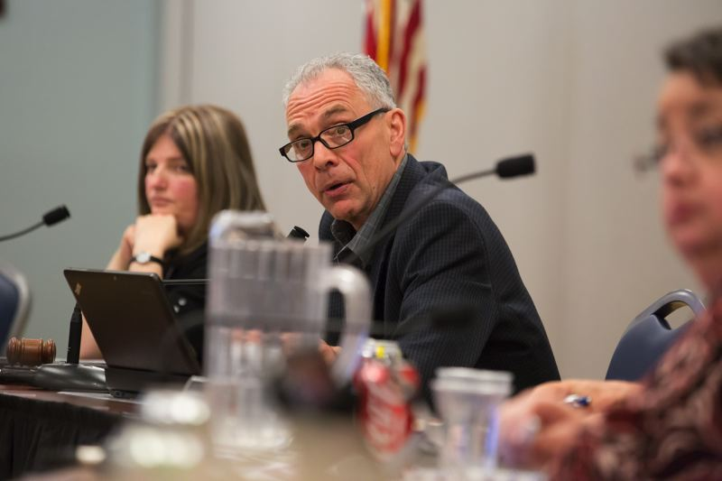 TIMES PHOTO: JONATHAN HOUSE - Tualatin Mayor Lou Ogden commended property-owner Bob Stein for listening to the concerns of the neighborhood and deciding to not build a gas station in west Tualatin.