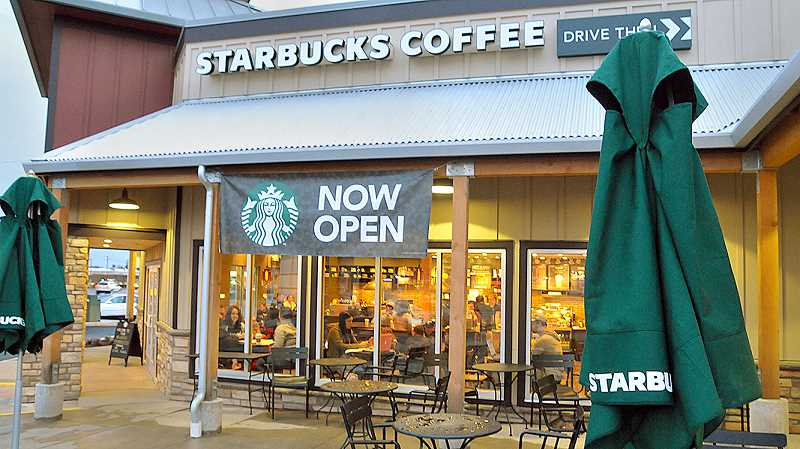 GARY ALLEN - Starbucks has opened as the first tenant of the Old Mill Marketplace development at Highway 99W and Elliott Road. Additional tenants will be opening in the coming months.