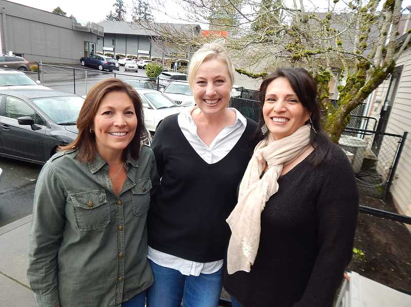 REVIEW PHOTO: CLIFF NEWELL - Three moms were instrumental in bringing the National League of Young Men to Lake Oswego (from left): Janet Ramey, Leslie Bridwell and Marlene Aviles-Cable.