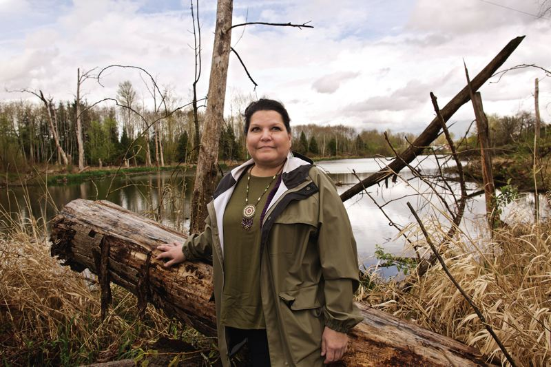 PORTLAND TRIBUNE: JAIME VALDEZ - A native village called Neerchocikoo once stood at this spot on Columbia slough. Native American Youth and Family Center coordinator Donita Fry says a commemorative plaque designed by the Indian community was never installed.
