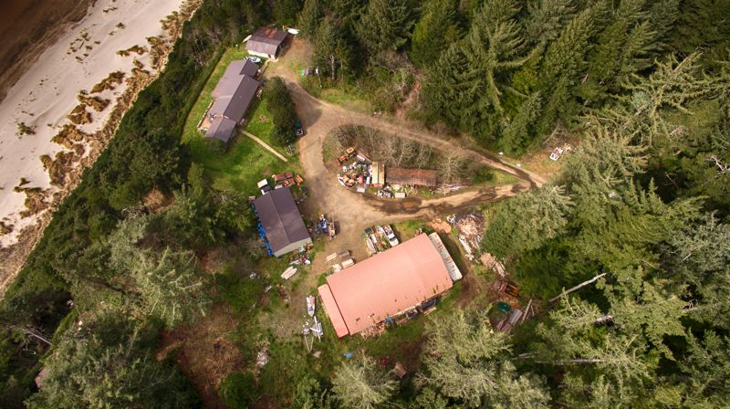 PAMPLIN MEDIA GROUP: ALVARO FONTAN  - Aerial photo shows Boy Scout camp facilities on the Oregon Coast. The Scouts are contemplating a long-term lease of some of their land for an oceanfront golf course, just south of Cape Lookout.