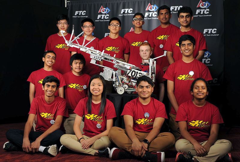 PHOTO COURTESY OF RICHARD HETZLER - The Hot Wired Robotics team finished among the top youth teams at last weekends FIRST Tech Challenge West Super-Regional Championship and qualified for the national competition in late April.