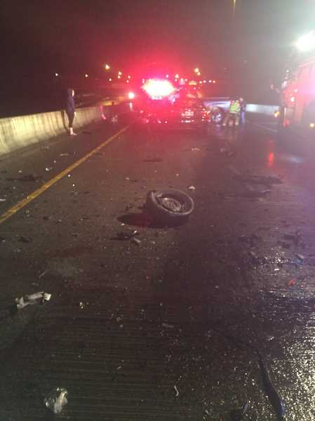 TIGARD POLICE - Tigard Police say a Beaverton woman was killed on the Interstate 5 flyover on Monday morning after she crashed into oncoming traffic.