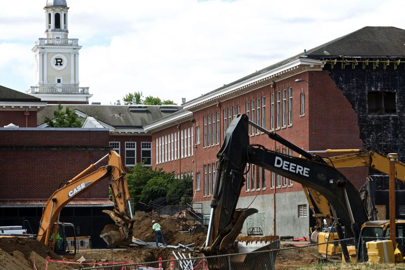 TRIBUNE FILE PHOTO - Roosevelt High School, currently under construction, will get a 10,000 square-foot makerspace for career-technical education in manufacturing, aviation and transportation that will also be designed to be used by the whole community.