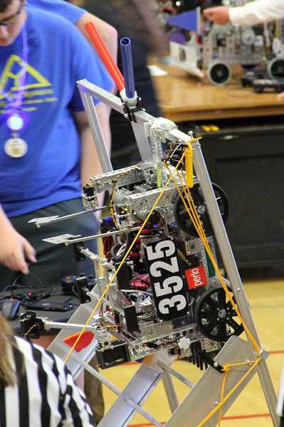 The teams robot gave a good showing at the California competition.