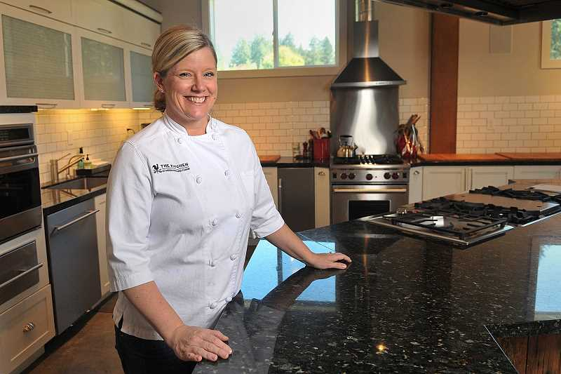 STAFF PHOTOS: VERN UYETAKE - Jessica Hansen invites all to The Kitchen, the state of the art cooking school she built in the former cattle barn on her farm in Wilsonville.