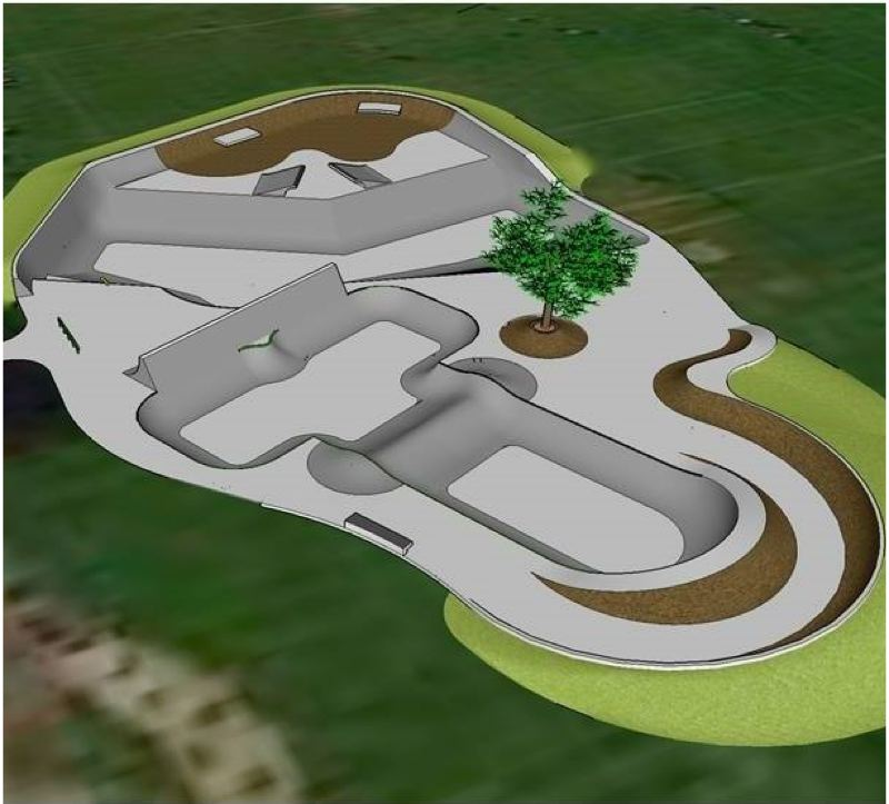 CONTRIBUTED PHOTO - This rendering shows how the Troutdale skate park could be designed.