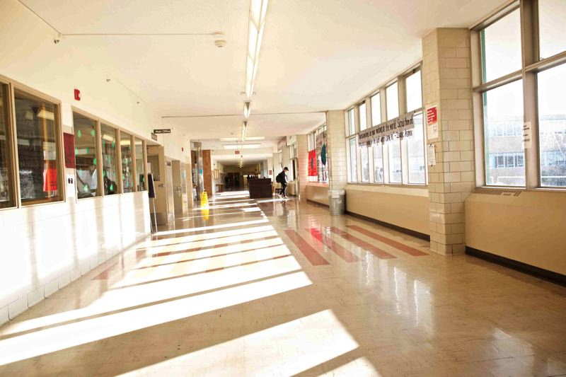 TRIBUNE FILE PHOTO - The hallway of Franklin High School in Portland. A new report out Wednesday says that if Oregon improves its test scores to that of the highest-achieving state in the nation, the state could raise its GDP more than a half-trillion dollars.