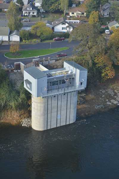 SUBMITTED PHOTO: LOT - A new river intake pump station was also built on the Clackamas River. Lake Oswego explored options for relocating its water plant in West Linn, but found no viable locations according to LOT Project Director Joel Komarek.