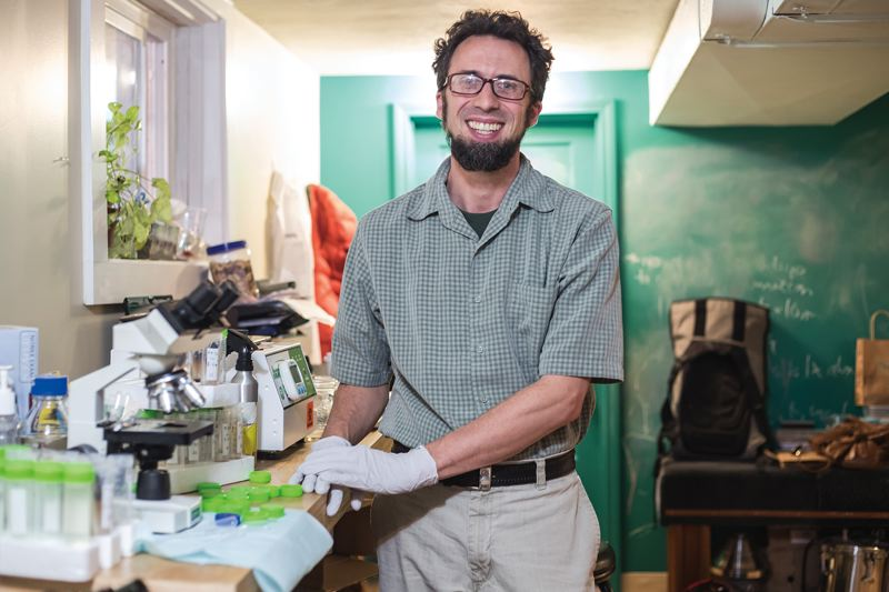 TRIBUNE PHOTO: JONATHAN HOUSE - Portland naturopathic physician Mark Davis was ahead of most doctors in counseling patients about fecal transplants, and now is intrigued by hookworm therapy.