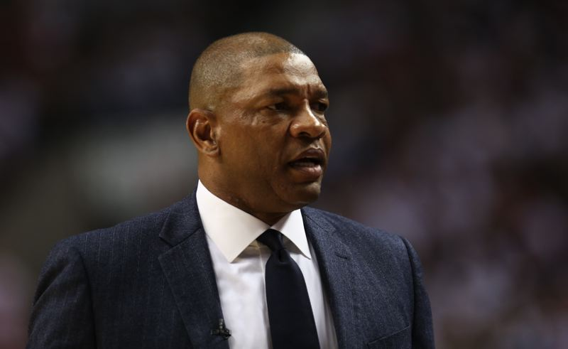 TRIBUNE PHOTO: DAVID BLAIR - Coach Doc Rivers and the Los Angeles Clippers will be shorthanded when they try to hold on to homecourt advantage Wednesday night against the Trail Blazzers.